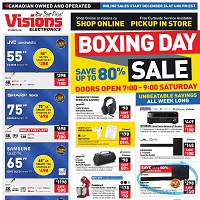 Visions Electronics Boxing Day Sale December 24 - 31 2020