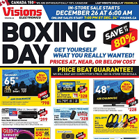 Visions Electronics Flyer Boxing Day Sale December 26 - 26 2017