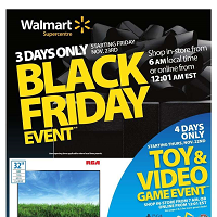 Walmart Black Friday Event November 23 - 25 2018