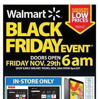 Walmart Black Friday Event November 29 - December 1 2019