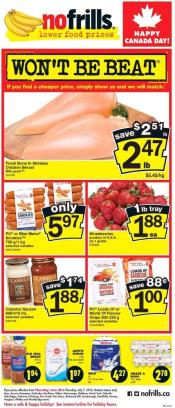 No Frills Flyer Canada Day Sale July 1 - 7 2016
