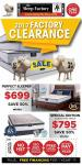 The Sleep Factory Flyer 2017 Factory Clearance February 2 - March 5 2017