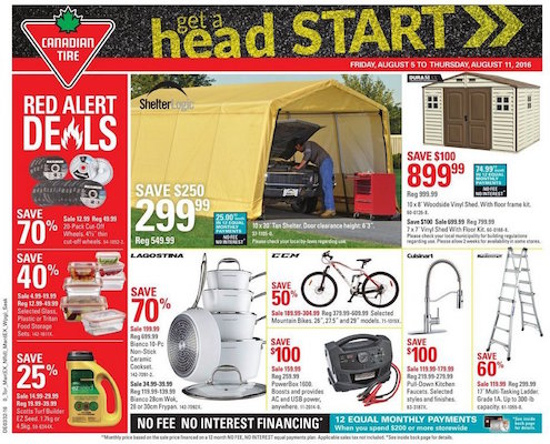 Canadian Tire Flyer 4 Aug 2016