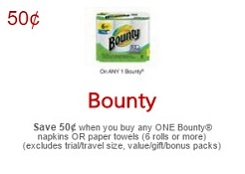 No Frills Coupons August 19 - 25 Save $0.50 on Bounty Paper Towels