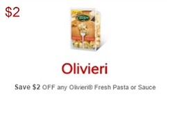 No Frills Coupons Save $2 on Olivieri Fresh Pasta or Sauce