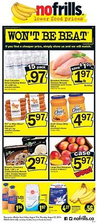 No Frills Flyer August 19 - 25 2016