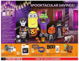 Canadian Tire Flyer October 24 2016 Decors for Halloween