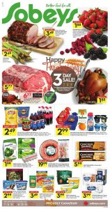Sobeys Flyer October 7 2016 With Good Recipes