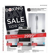 Sears Flyer Boxing Day Sale December 22 - 24 2016