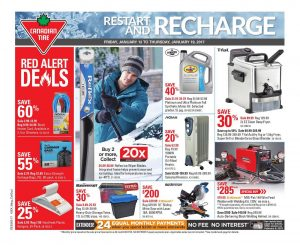 Canadian Tire Flyer January 13 2017