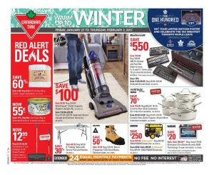 Canadian Tire Flyer January 28 2017