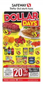 Safeway Flyer January 13 2017 Dollar Days