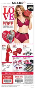 Sears Flyer February 10 2017 Valentine's Day