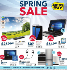 Best Buy Flyer March 19 2017 Spring Sale
