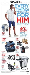 Sears Flyer June 12 2017 Father's Day
