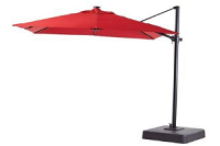 Canadian Tire Garden Canvas Red Offset Umbrella $449.99