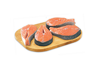 Metro Savings Atlantic salmon steaks family pack only $7.99 lb.