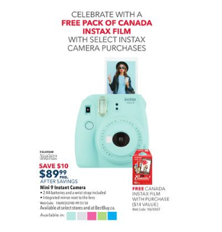 Save $10 on Mini 9 Instant Camera