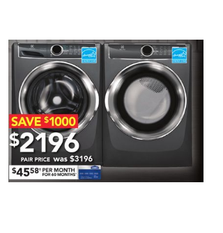 Boxing Day In July, Save $1000 on Electrolux Front-Load Washer