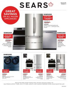 Sears Flyer Home Sale 30 Aug 2017