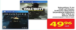 Walmart Electronics Selected console games are on sale!
