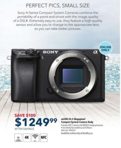 Save $100 on Sony Camera