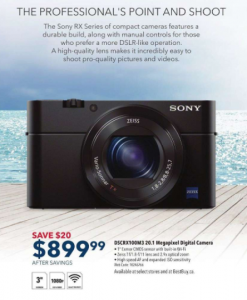 Save $20 on Sony Camera