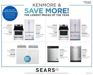 Sears Flyer Kitchenware Sale Sep 2017