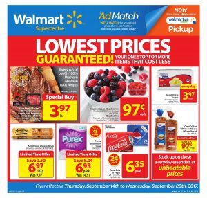 Walmart Flyer Lowest Prices 14 - 20 Sep 2017
