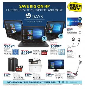 Best Buy Flyer October 20 2017 - Save Big on HP Products