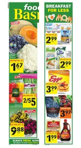 Food Basics Flyer Special Sale 13 May 2018