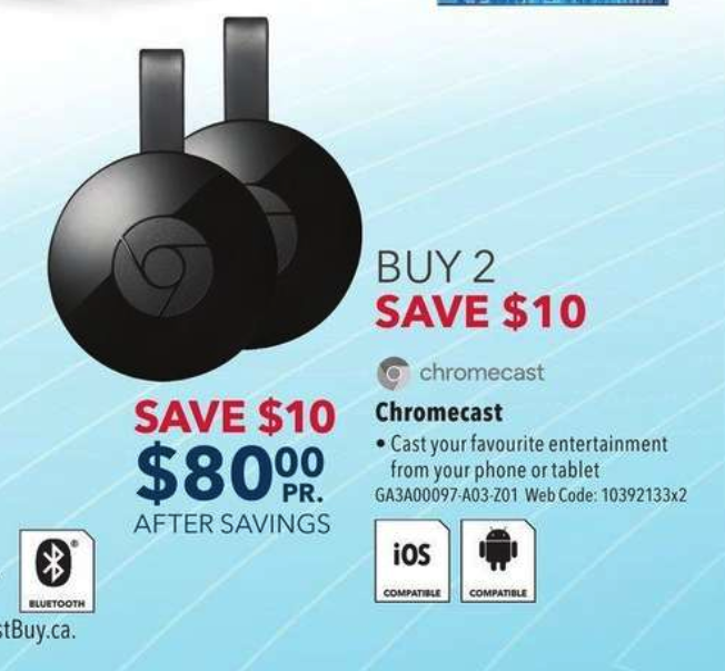 Best Buy Flyer Chromecast Deal 22 Jul 2018