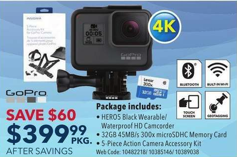 Best Buy Flyer GoPro Hero 5 Deal 23 Jul 2018