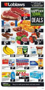 Loblaws Flyer Back to School Sales 30 Aug 2018