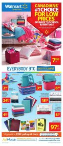 Walmart Flyer School Deals 18 Aug 2018