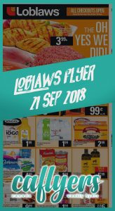 Loblaws Flyer Special Sale 21 Sep 2018