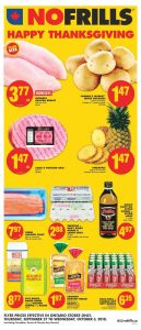 No Frills Flyer Thanksgiving Sale 2 Oct 2018