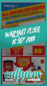 Walmart Flyer Great Offers 16 Sep 2018