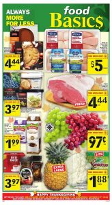 Food Basics Flyer Happy Thanksgiving 9 Oct 2018