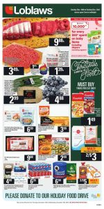 Loblaws Flyer Christmas Deals 16 Dec 2018