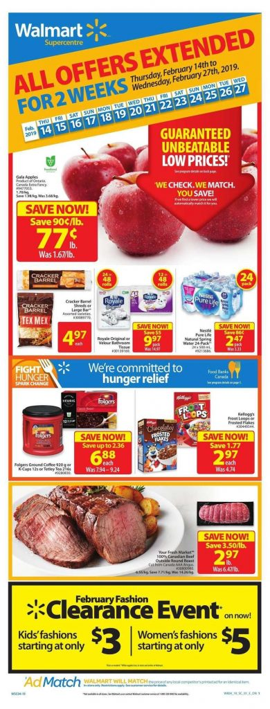 Walmart Flyer Special Prices 25 Feb 2019