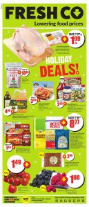 FreshCo Flyer Christmas Deals 15 Nov 2020